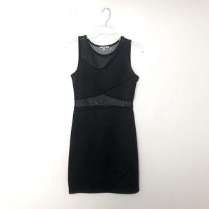 Charlotte Russe Black Mesh Bodycon Dress